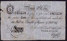 SKETCH nota - 1847 BANK OF LOVE nota * GF *