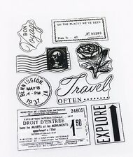 Vintage Travel Memory Clear Silicone Stamp Card Making Scrapbooking Journal Art