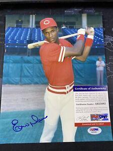 Eric Davis Cincinnati Reds PSA DNA Signed Early Years Autograph HOF 8x10 Photo