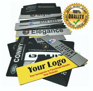 Show Custom Number Plate Garage Car Sales Acrylic Cover Plates When Taking Pics