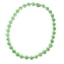 """Plata esterlina 925 Verde Jade Multi Zafiro Collar Regalo Talla 18"""" CT 116.2"""