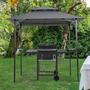 8'X5' Outdoor Barbecue Grill Gazebo Canopy Tent Patio BBQ Shelter W/Air Vent NEW