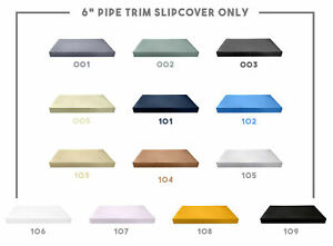"""6"""" Thickness PIPE TRIM Outdoor Daybed Mattress Fitted Sheet Slip Cover Only"""
