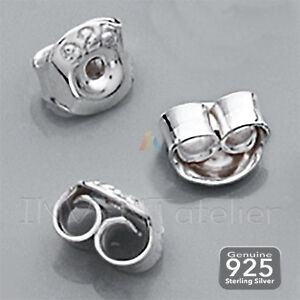 925 Solid Sterling Silver 5mm 6mm EARRING BUTTERFLY BACKS SCROLLS STOPPERS   408