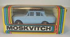 URSS USSR 1/43 Moskvitch 412 con tetto Bagagli Portante BLU CHIARO OVP #258