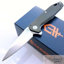"Gerber Fastball Flat Sage Folding Knife 3"" CPM S30V Blade Green Aluminum Handle"