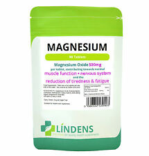 Magnesium 500mg 90 Tablets; 4 Muscle Recovery/Relaxation/Pain relief/Fatigue/PMS