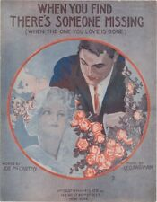 When You Find There's Someone Missing, 1917, vintage sheet music