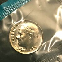 1987 P+D 2 ROLLS 50 COINS  EACH UNCIRCULATED ROOSEVELT DIMES  IN MINT CELLO L@@K