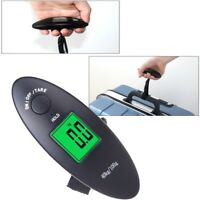 Portable Digital Luggage Scale LCD Display Travel Hanging Bag Weight 40kg/90lbs