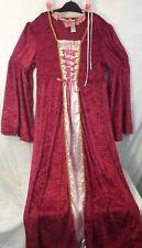 RENAISSANCE Pink & Gold Velour Size XL DRESS Mary Queen of Scots Women's Costume