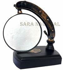 Table TOP Desk Brass MOVEABLE Magnifier WATTS & SONS LTD Magnifying Glass Descr