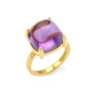 Tiffany & Co. Picasso 8.00ct Amethyst Sugar Stacks 18k Yellow Gold Ring Size 6