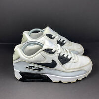 Nike Air Max 90 LTR GS White Black Pure Platinum Shoes Size 7Y Womens Size 8.5