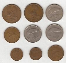 9 IRISH COINS 1948 TO 1975 - 1D TO 10 PENCE
