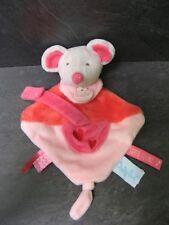 doudou souris rose super tétine baby nat' état neuf