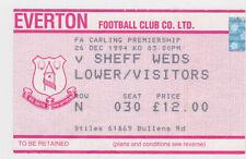 Everton Football League Fixture Tickets & Stubs (1992-2004)