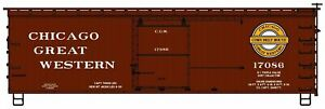 Accurail (HO) #1715 CHICAGO GREAT WESTERN 36' Double Sheathed Boxcar #17086 KIT