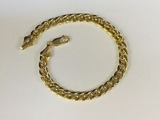 "14KT Yellow Gold Miami Cuban Curb Link 8"" 6.5 mm 10 grams  chain/BRACELET"