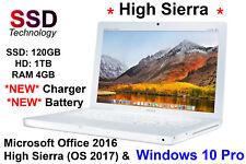 Apple Macbook 2GHz Hybrid SSD/1TB 4GB, 2017 OS X & WINDOWS 10, Ms Office 2016
