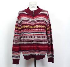 Schott Bros. FairIsle Sweater Jacket Mens Large Wool Blend Full Zip New
