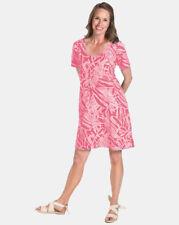 Fresh Produce NWT Size XL Cancun Allure T-Shirt Dress Papaya Fruit Pink Pockets
