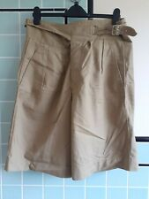 More details for 1950s vintage british army tropical khaki drill 1950 pattern shorts 34-36