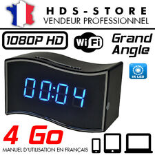 RÉVEIL CAMÉRA ESPION IP WIFI RVLIP6 FULL HD 1080P + MICRO SD 4 GO INFRAROUGE