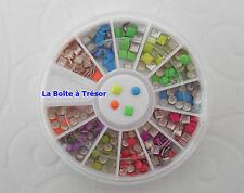 Nail Art - Carrousel Strass pour la Décoration des Ongles Multicolore Fluo