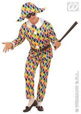 COSTUME ARLECCHINO TG L Carnevale Pulcinella Maschera Saltinbanco Vestito 577932
