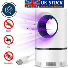 More details for uk electric uv led light mosquito killer insect fly-bug zapper trap catcher lamp