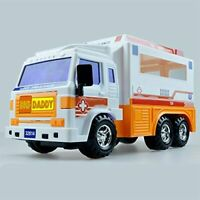 Big Daddy Meduim Duty Friction Powered 911 Ambulance Toy Truck NEW FREE SHIPPING