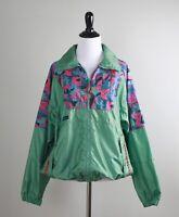 COLUMBIA Vintage Womens Zip Up Front Geo Print Light Wind Jacket Top Size Medium