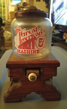 Vintage the great american 5 cent wooden glass nut machine