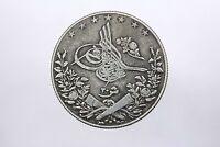 Ottoman Egypt 20 Qirsh silver coin Abdul Hamid II