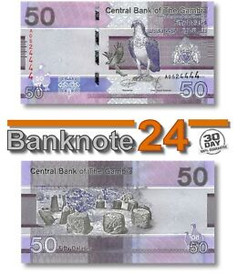 Gambia 50 Delasis 2019 Unc , Banknote, New, Birds Issue Pn 40a