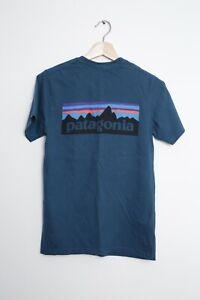 Patagonia P-6 Logo Responsibili Tee Tshirt - Teal Size XS