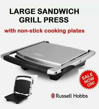Large 4 Slice Sandwich Press Grill Non Stick Electric Jaffle Grill Toast Maker
