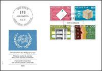 FDC Suisse - Timbre poste de service de l'union postale universelle 16.91976