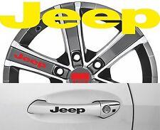 4 x Türgriff- Felgen Aufkleber Jeep 001 #1466