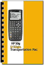 Transportation Pac Software v2 for HP-50G Calculator