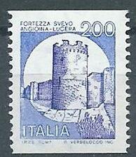 1980 ITALIA CASTELLI 200 LIRE BOBINA MNH ** - ED