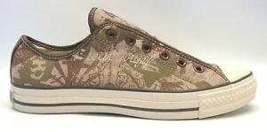Converse Brown Canvas All Star Chuck Taylor OX Conversation Sneaker Unisex