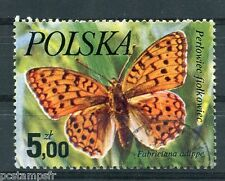 POLOGNE, 1977, timbre 2349, PAPILLONS, FABRICIANA ADIPPE, neuf**