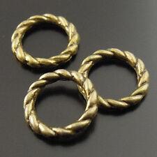 400pcs Antiqued Bronze Vintage Alloy Round Circle Ring Pendant Charms 34743