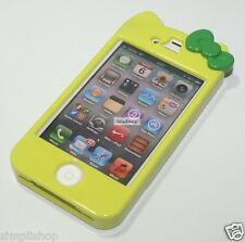 Hello Kitty Character Hard Cover Case For Apple IPhone 4G 4S (Green)