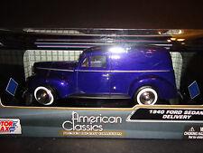 Motormax Ford Sedan Delivery 1940 Purple 1/24