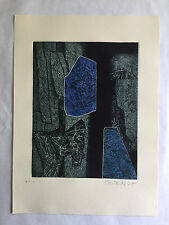 """Gabor Peterdi - """"STONEWORK"""" - Etching from deluxe edition of """"A Genesis"""""""