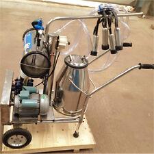 ST Farm Cow Dairy Cattle Milking Milker Machine Kit+One Bucket Tank Barrel 110V