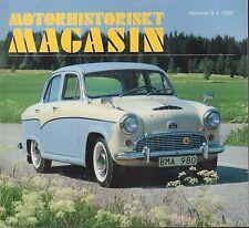 Motorhistoriskt Magashin Swedish Car Magazine #3 1989 Austin Martin 031617nonDBE